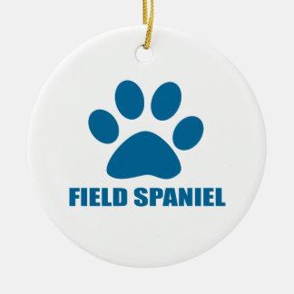 FIELD SPANIEL DOG DESIGNS CHRISTMAS ORNAMENT