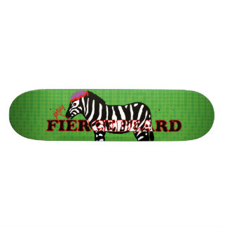 """FIERCEBEARD """"Zebra zombie"""" skateboard deck"""