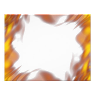 Fiery Burning Flames Border Personalized Announcements