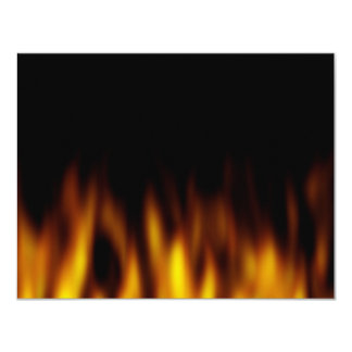Fiery Hot Flames Backdrop Personalized Invitations