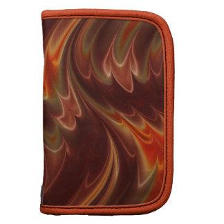 Fiery orange brown waves organizers