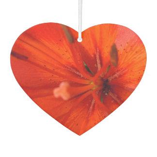 Fiery Orange & Red Lily II Car Air Freshener