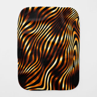 Fiery Tiger Stripes Burp Cloth