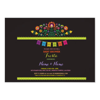 Fiesta Baby Shower Mexican Mexico Floral Invite