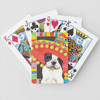 Fiesta Boston Terrier Bicycle Playing Cards