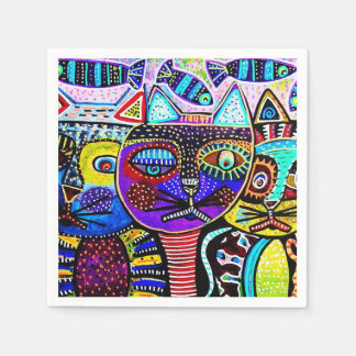 Fiesta Cats HHM Party Paper Napkins