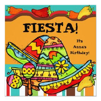 Fiesta Customised  Birthday Invitations