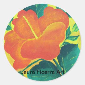 Fiesta Flower Round Sticker