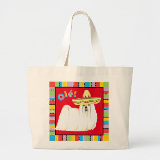 Fiesta Maltese Large Tote Bag