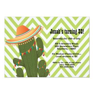 Fiesta Mexican Cactus Sombrero Party Invite
