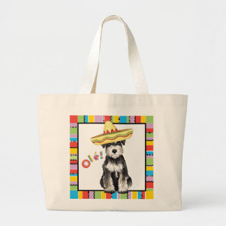 Fiesta Miniature Schnauzer Large Tote Bag