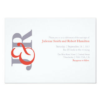 Fiesta | Modern Monogram Wedding Invitation