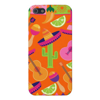 Fiesta Party Sombrero Cactus Limes Peppers Maracas iPhone 5/5S Covers