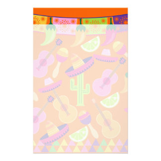 Fiesta Party Sombrero Cactus Limes Peppers Maracas Stationery