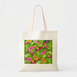 Fiesta Party Sombrero Cactus Limes Peppers Maracas Tote Bag