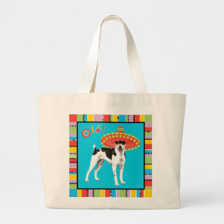 Fiesta Rat Terrier Large Tote Bag