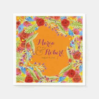 Fiesta Wedding Paper Napkins