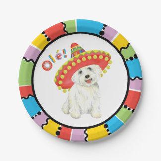 Fiesta Westie Paper Plate