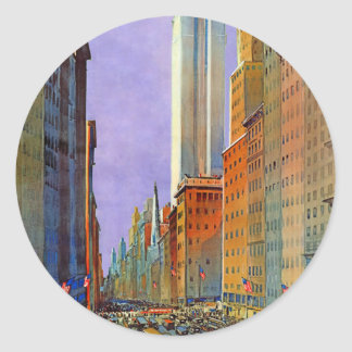 Fifth Avenue Classic Round Sticker