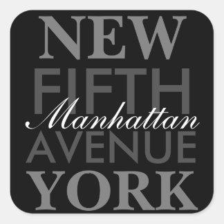 Fifth Avenue New York Square Sticker