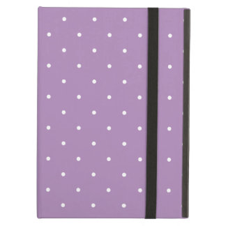 Fifties Style African Violet Purple Polka Dot iPad Folio Cases