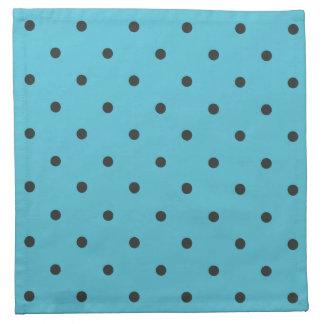 Fifties Style Aqua Polka Dot Napkin