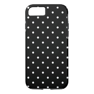 Fifties Style Black and White Polka Dot iPhone 8/7 Case
