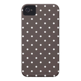 Fifties Style Brown Polka Dot iPhone 4S Case iPhone 4 Covers