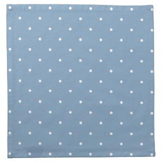 Fifties Style Dusk Blue Polka Dot Napkin