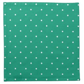 Fifties Style Emerald Green Polka Dot Napkin