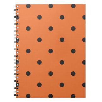 Fifties Style Orange Polka Dot Note Book