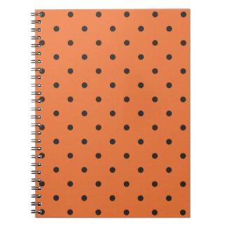 Fifties Style Orange Polka Dot Notebook