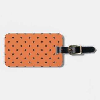 Fifties Style Orange Polka Dot Tags For Bags