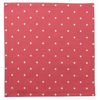 Fifties Style Poppy Red Polka Dot Napkin