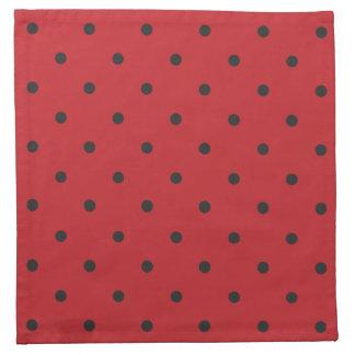Fifties Style Red Polka Dot Napkin