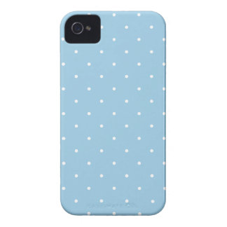 Fifties Style Sky Blue Polka Dot iPhone Case iPhone 4 Covers