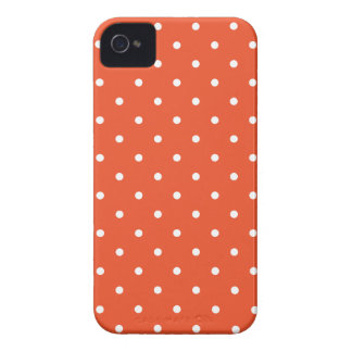 Fifties Style Tangerine Polka Dot iPhone 4S Case