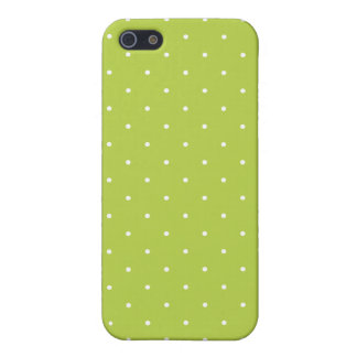Fifties Style Tender Shoots Green Polka Dot iPhone 5/5S Cover