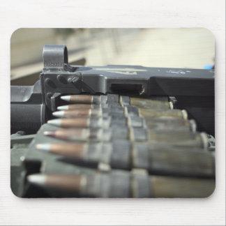 Fifty-caliber machine gun rounds mouse pad