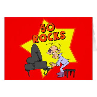 Fifty Rocks 50th Birthday Party Invitations