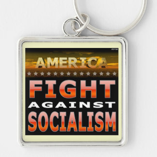 Fight Against Socialism Key Ring