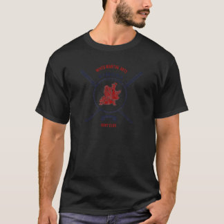 Fight Club Grunge print with samurai swords T-Shirt