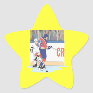 Fight For The Puck Star Sticker
