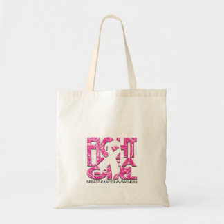 Fight like a Girl - Breast Cancer Awareness Budget Tote Bag