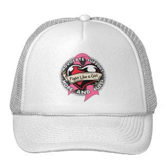 Fight Like a Girl Heart Ribbon - Breast Cancer Trucker Hat