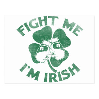 Fight Me I'm Irish Postcard