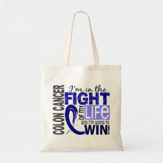 Fight Of My Life Colon Cancer Tote Bags