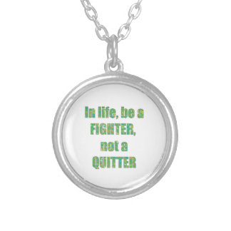 FIGHTER Quitter Quote Wisdom TEMPLATE holidays Jewelry