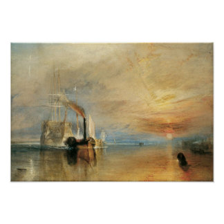 Fighting Temeraire by Turner, Vintage Maritime Art Poster