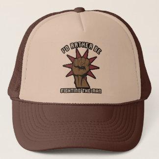fighting the man trucker hat